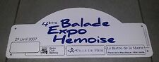 PLAQUE RALLYE 4EM BALADE EXPO HEMOISE RETRO CLUB HEMOIS CITROEN TRACTION JEEP US
