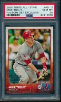 2015 Topps Factory Set #AS-3 Mike Trout All Star Game Exclusive PSA 10 Gem Mint