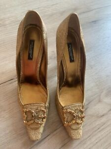 Dolce Gabbana Pumps SGold Gr.37,5 Gebraucht Sammlerstück Runway