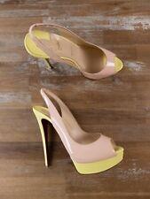 $945 CHRISTIAN LOUBOUTIN Lady Peep Sling powder patent pumps - 11 US / 8 UK / 41