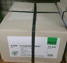 "Computerpapier 2000 Blatt Endlospapier A4 hoch 12"" x 240 mm hfr 1-Fach 70g"