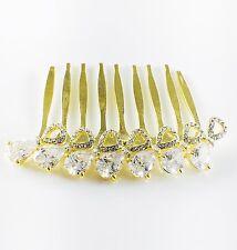 USA Hair Comb use Swarovski Crystal Wedding Bridal Party Charming Gold Clear New