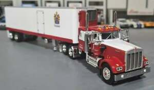1/64 DCP W900A KENWORTH CR ENGLAND WITH 40FT VINTAGE TRAILER NEW 60-0936
