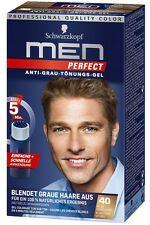 Schwarzkopf MEN PERFECT Anti-Grau Tönung Gel 40 Natur Dunkelblond AntiGreyToner
