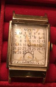 10K Yellow Gold Filled BULOVA Men's Vintage Swiss Watch 21 Jewel Wind Up Runs