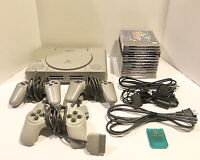 Sony PlayStation PS One PS1 Console Bundle w/ 11 Games, 3 Controllers Tested