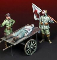 1/35 Resin WWII German Medical Soldiers W/Cart Unpainted Unassembled BL620