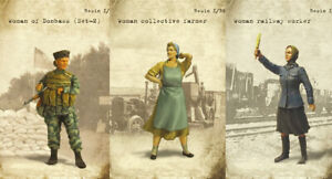 1/35 Resin Russian 3 Female Soldier Workers Unpainted Unassembled