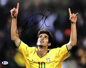 Ricardo Kaká Signed 11x14 Soccer Photo BAS Beckett C10540