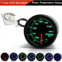 "2"" 52mm DC12V 7 Color LED Car Water Coolant Temperature Temp Meter Gauge&Sensor"