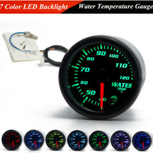 "2"" 52mm DC12V 7 Color LED Car Water Coolant Temperature Temp Meter Gauge +Sensor"