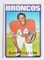 Floyd Little #50 Topps 1972 Football Card (Denver Broncos) VG