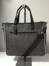 Coach Heritage Sport Supply Leather Messenger Bag in Slate Gray/Black F71349
