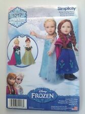 Simplicity Pattern 1217 Disney Frozen Anna Elsa Dolls Clothes