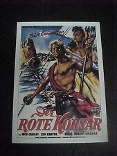 THE CRIMSON PIRATE, film card (Burt Lancaster, Eva Bartok)
