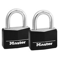 Master Lock 1-9/16in (40mm) Wide Covered Solid Body Padlock: 2 Pack