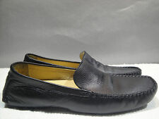 MENS 9 M COLE HAAN ITALY BLACK LEATHER MOCCASIN COMFORT DRIVING MOC LOAFER SHOES
