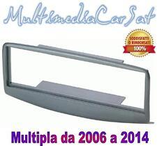 Mascherina Multipla Grigia 3243 da 2008 a 2014 Autoradio Radio Cornice
