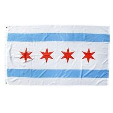 3x5 City of Chicago Flag 3'x5' House Banner grommets super polyester