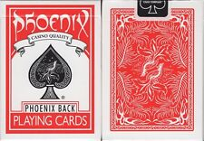 Phoenix Red Playing Cards Poker Size Deck USPCC Card-Shark Custom New Sealed