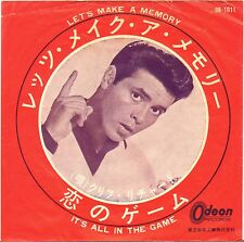 "CLIFF RICHARD ""LET'S MAKE A MEMORY"" 60'S SP ODEON 12011 JAPON !"