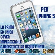 CUSTODIA COVER WATERPROOF PER IPHONE 5 5S CASE SUBACQUEA RESISTENTE A URTI ACQUA