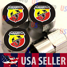 Abarth Carlo Logo Valves Stems Caps Covers Chromed Roundel Wheel Tire Emblem USA