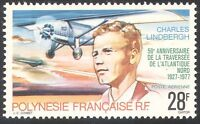 French Polynesia 1977 Lindbergh/Aviation/Planes/Aircraft/Flight/People 1v n33378