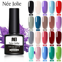NEE JOLIE 8ml UV Gel Nail Polish Soak Off Black White Nail Art Gel Varnish Decor