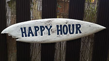 1 m Happy Hour  PUB tiki surfbrett HAWAii Südsee Maori handgemalt Holz Schild