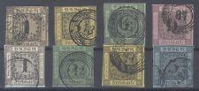 Baden Mi.Nr. 1-8, Freimarken 1851-58 gestempelt, Mi.Nr. 1 geprüft (31748)