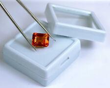 Orange Mali Garnet Gemstone 10.35 Ct Natural Untreated VVS1 Octagon Certified