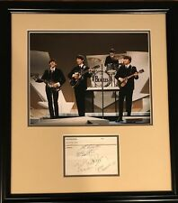 The Beatles Signed Paul McCartney Autograph Display John Lennon Harrison Starr
