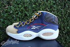 REEBOK QUESTION MID SZ 6 IVERSON DRESS CODE NAVY BLUE WHEAT AR0252