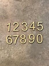 """Set of 10 Laser Cut Wooden Numbers, Arial Font, 0-9, 1"""" Size"""