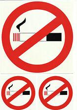 Prohibido Fumar juego de pegatinas Pegatina Vinilo - 3 piezas - No fumador