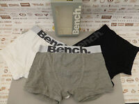 BENCH Branded Trunk Men's Asstd Col Boxer Shorts 3 pack Size M Underwear BNIB