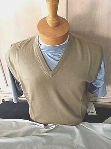 New NWT Pringle Wool Camel Mens S-XL Sweater Vest