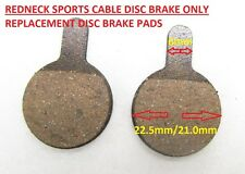 REDNECK SPORTS CABLE DISC BRAKE REPLACEMENT PADS