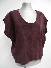 Beautiful burgundy suede leather top by Muubaa oversize utility UK8