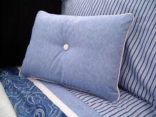 NEW Custom Ralph Lauren Putney Paisley Accent Pillow 1 Button White Piping