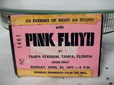 "Hot Pink Floyd Concert Ticket Stub ""Animal Tour"" 1977 Tampa Stadium April 24th"