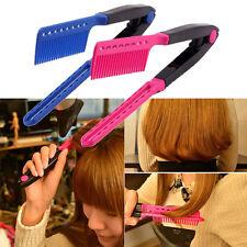 Fashion V Type Hair Straightener Comb DIYSalon Hairdressing Styling Tool