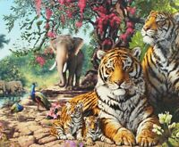 1000 Pieces Jigsaw Puzzle Tigers & Elephants - Brand New