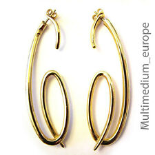 Pierre Lang Creolen Ohrringe Ohrstecker vergoldet Spiral form earrings