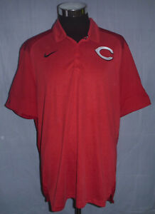 Cincinnati Reds MLB Authentic Baseball Nike Dri Fit Red Men's Polo Size XL