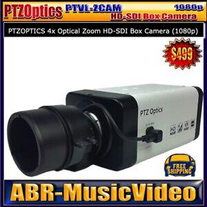 PTZOptics PTVL-ZCAM 4x Optical Zoom HD-SDI Box Camera/1 Year Warranty
