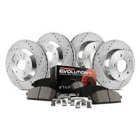 Drilled /& Slotted, Front StopTech 938.45006 Street Axle Pack