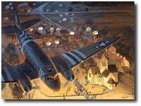 Ste-Mere-Eglise by Tom Freeman Print - C-47 Dakota - Normandy D-Day Paratroopers
