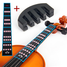More details for violin finger guide sticker 4/4 and rubber mute pack label chart for beginners